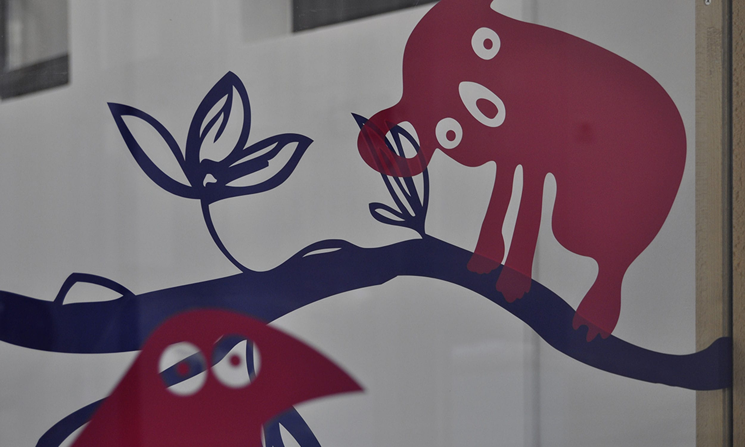 Dekorativer Aufkleber Für Glasscheiben Crèche Pelée Paris