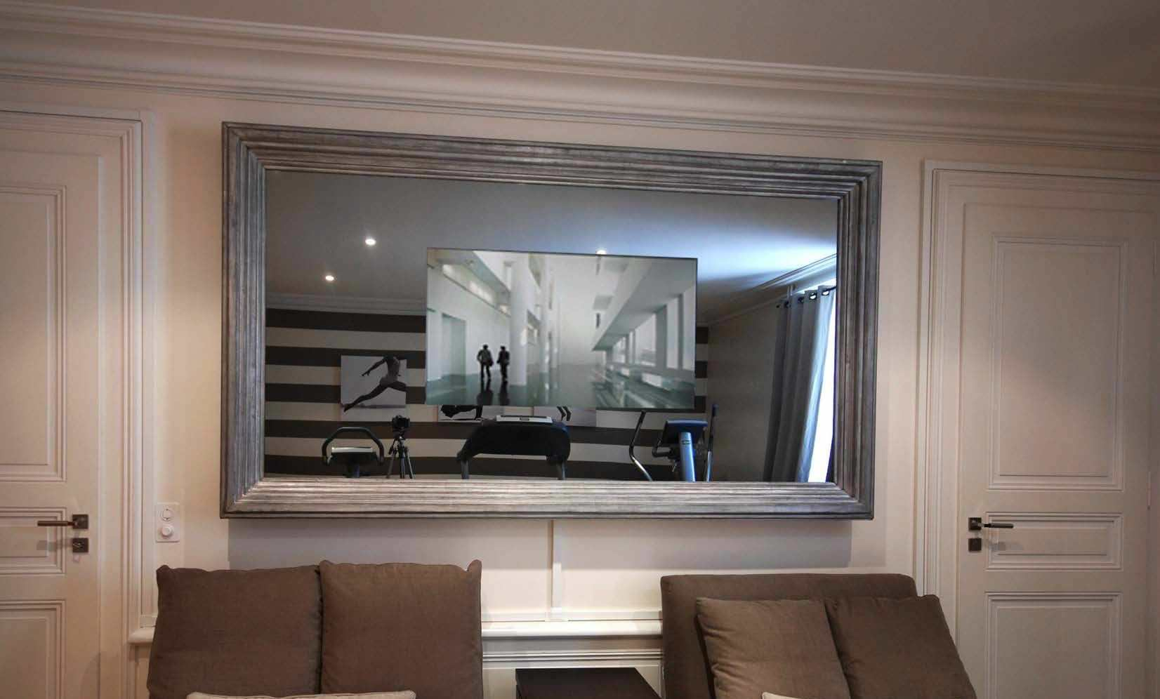 Wandmontierter TV-Spiegel / Wohnzimmer / Barock / rechteckig - Raymura