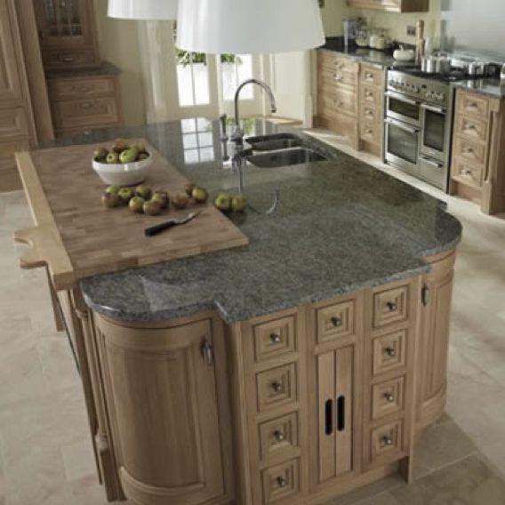 Granitarbeitsplatte / aus Granit / Küchen - BLUE EYES - WALL ...