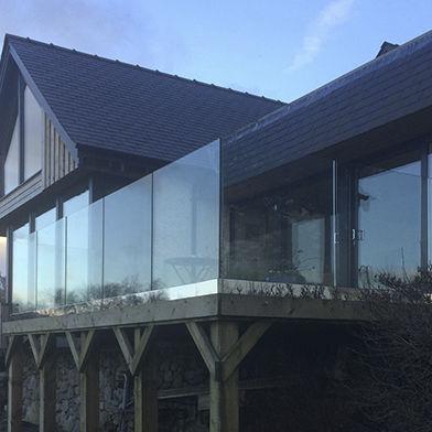 Glasgelander Platten Aussenbereich Fur Terrassen Frameless