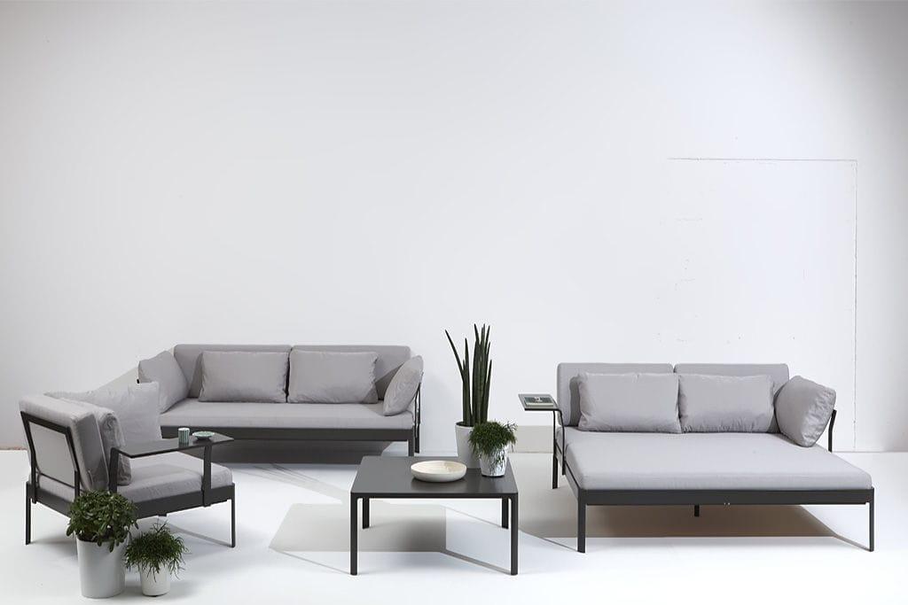 Sofa modern stoff grau  Modulierbares Sofa / modern / Stoff / grau - PLANE by Luciano ...