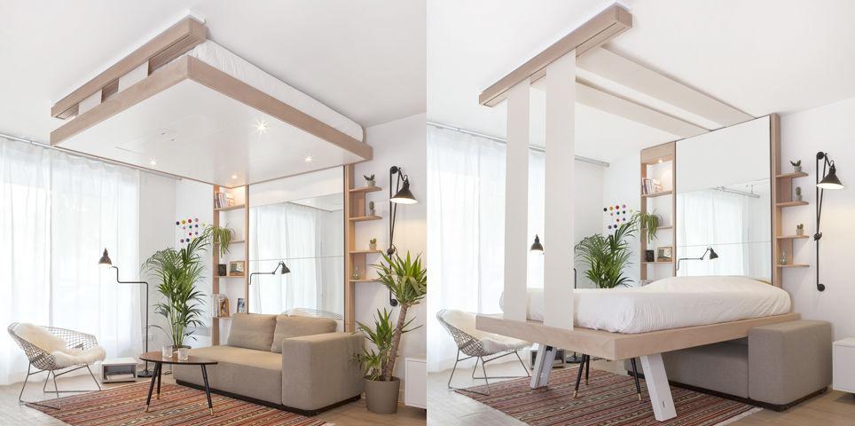 Schrankbett Hängend Doppelt Modern Cocoon Decadrages