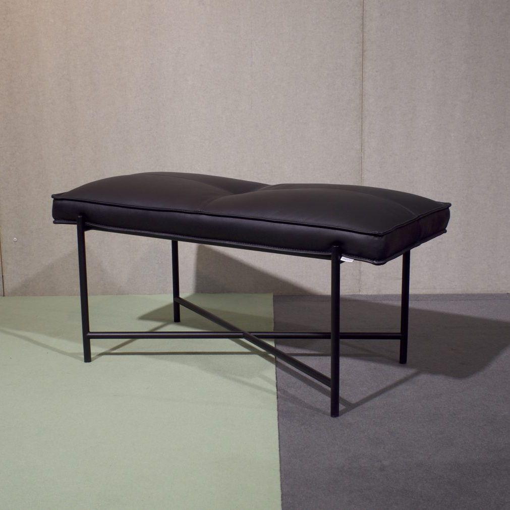 Moderne Bank Metall Leder Handgefertigt Piano Handvark