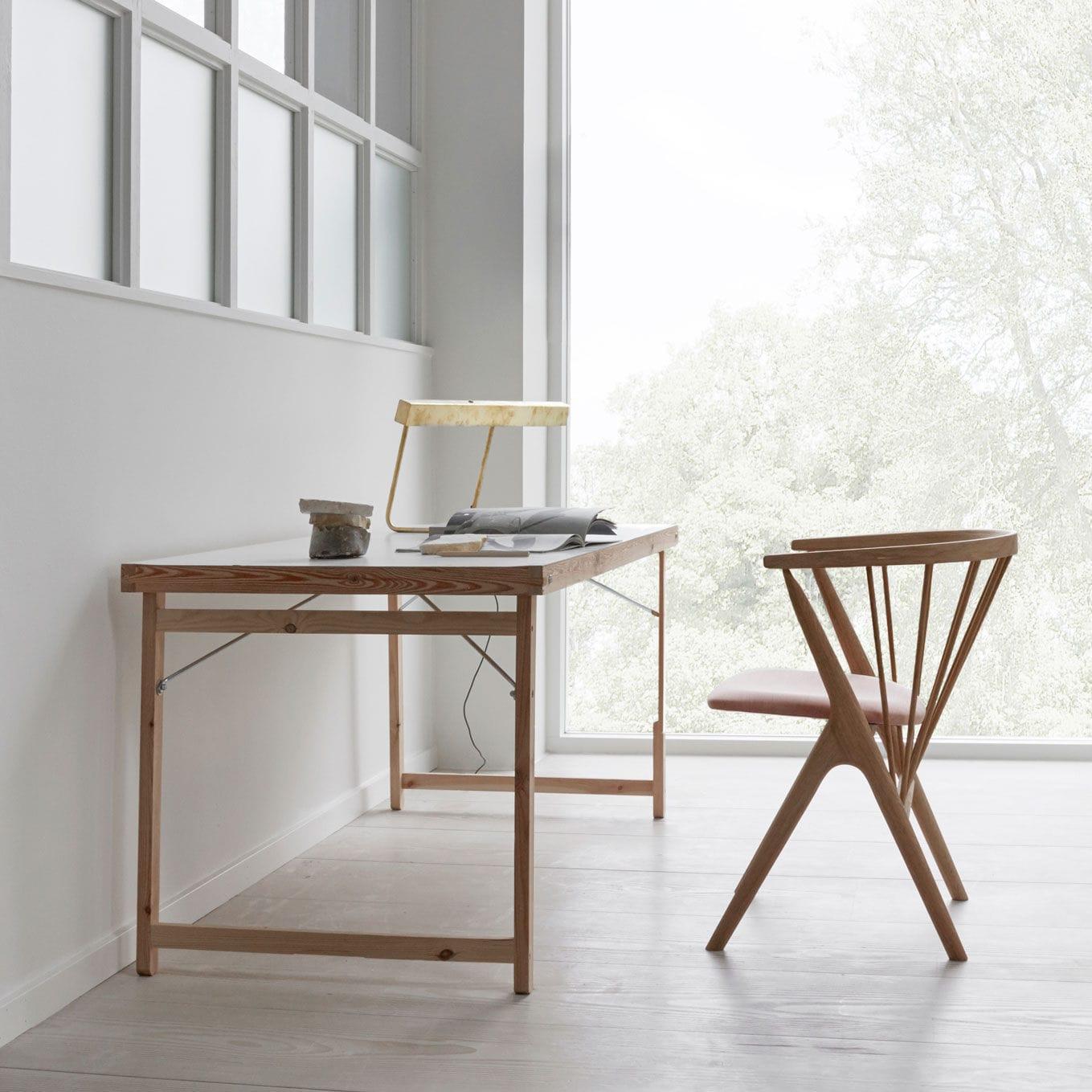 Elegant Stuhl / Skandinavisches Design / Polster / Wolle / Aus Eiche   No 8