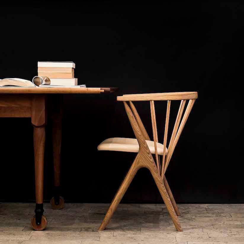 ... Stuhl / Skandinavisches Design / Polster / Wolle / Aus Eiche ...