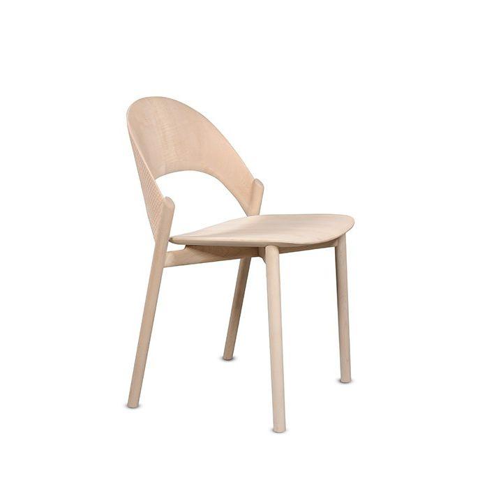 Stuhl / Skandinavisches Design / Stapel / Nussbaum / Massivholz   SANA By  Monica Förster