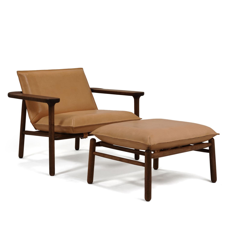Sessel / Skandinavisches Design / Massivholz / Leder - IGMAN by ...