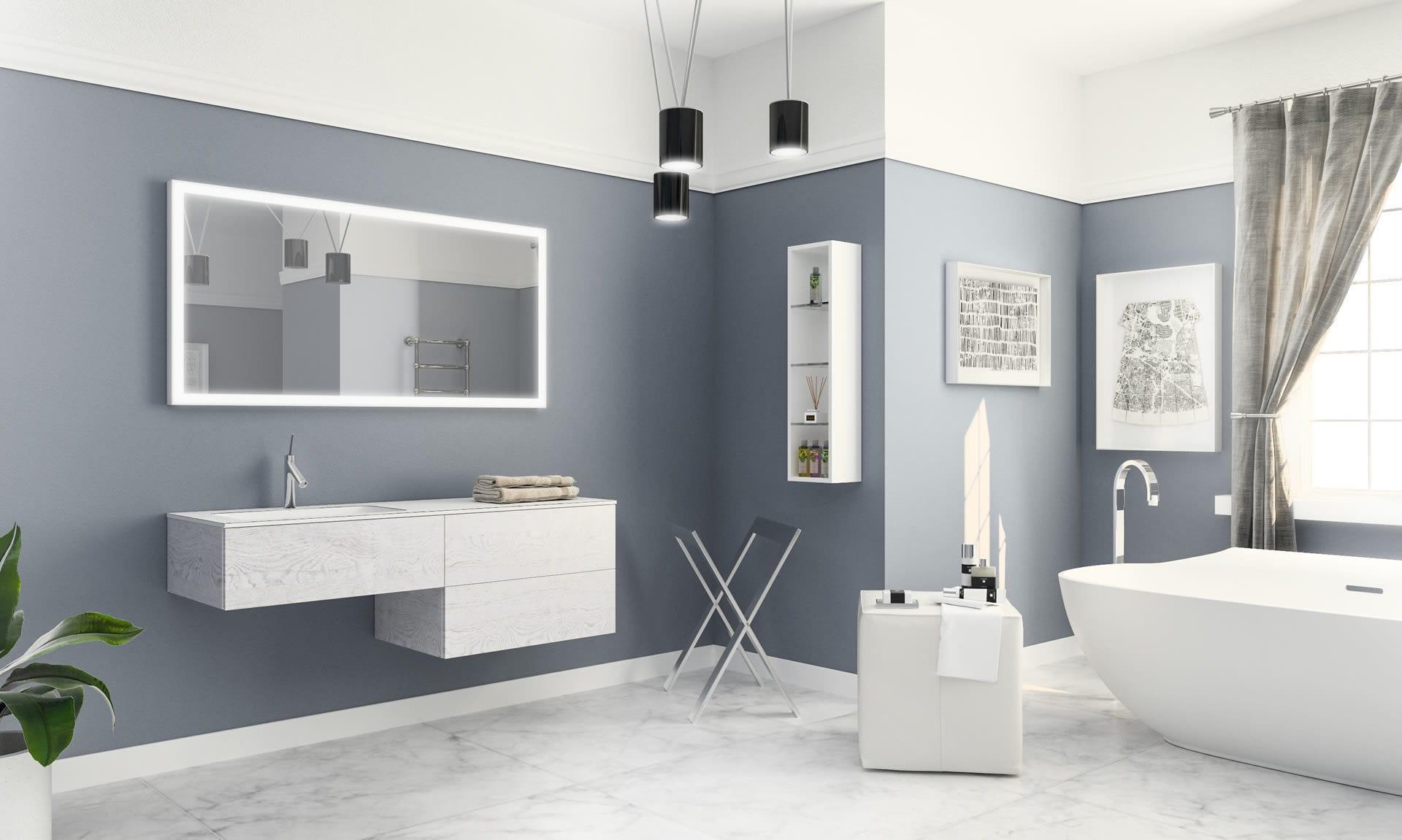 Modernes Badezimmer Holz Natura Isa Bagno
