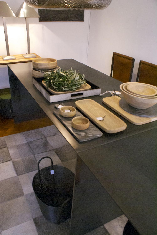 esstisch / modern / stahl / rechteckig - eiserne tafel - ateliers, Esstisch ideennn