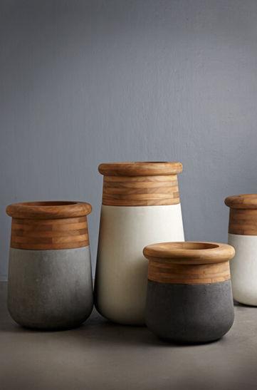 Beton-Pflanzkübel / Holz / rund / modern - SOMA by Laurie Wiid van ...