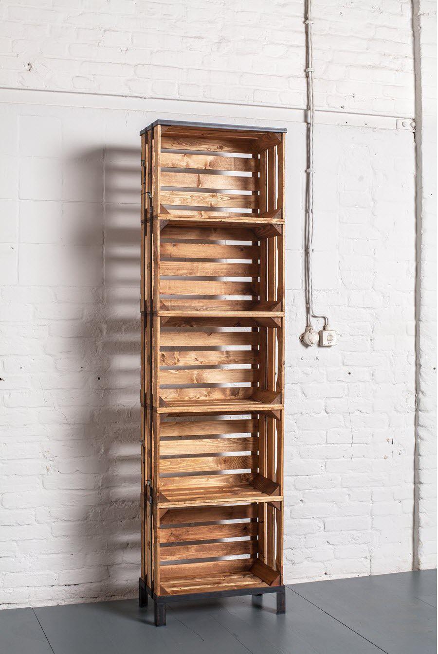 Modernes Regal Holz Objektmobel Fur Geschafte Diy Crate 1 05