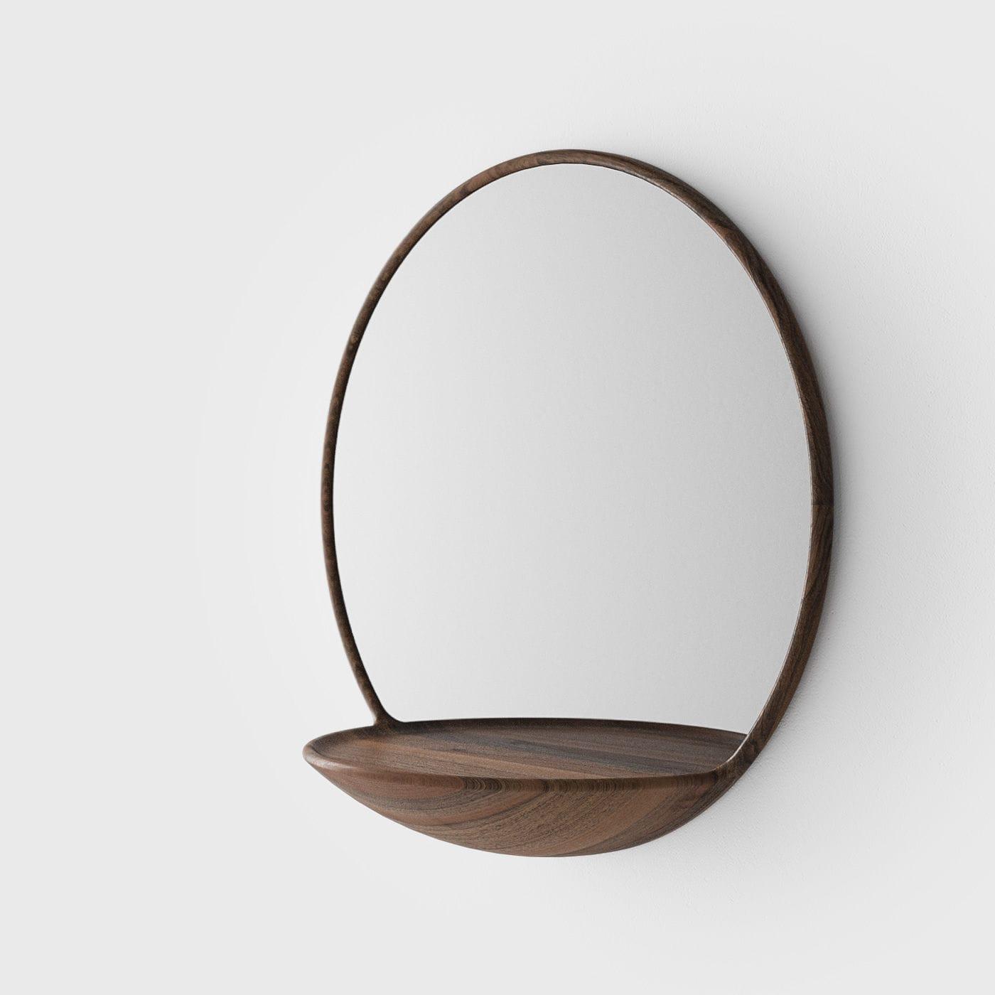 Top Wandmontierter Spiegel / modern / oval / mit Regal - KALOTA by  YP11