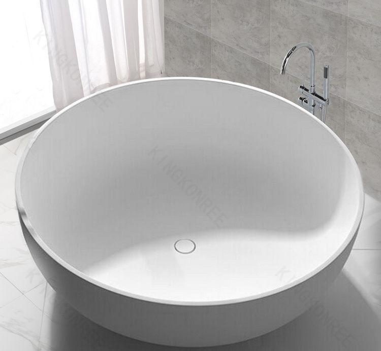 Freistehende Badewanne / rund / Mineralwerkstoff / aus Mineralguss ...