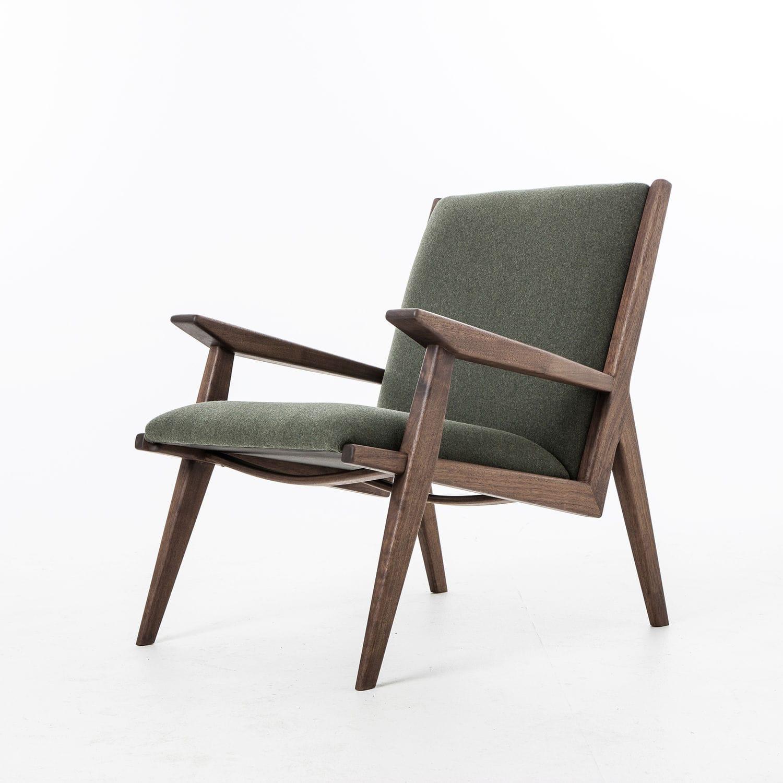 Sessel Skandinavisches Design Aus Nussbaum Stoff Agustav