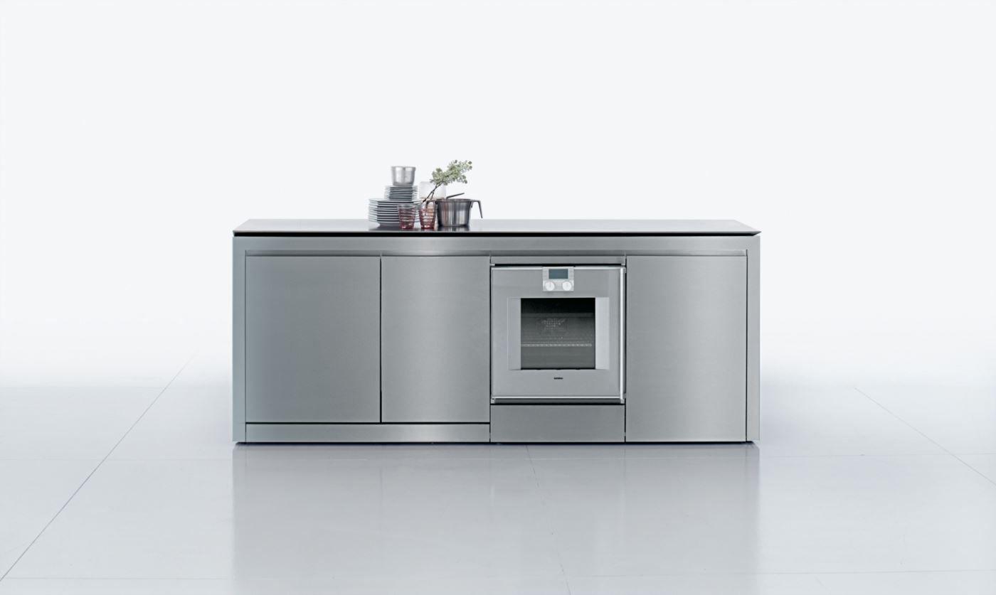 Moderne Küche / Holz / Edelstahl / aus Corian® - K2 by Norbert ...