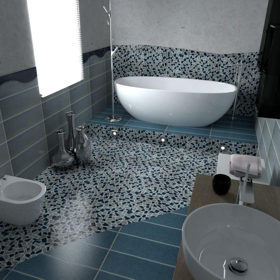 Fliesen Für Badezimmer / Für Wände / Keramik / Mit Geometrischem Muster    CRAKL.È ONDA