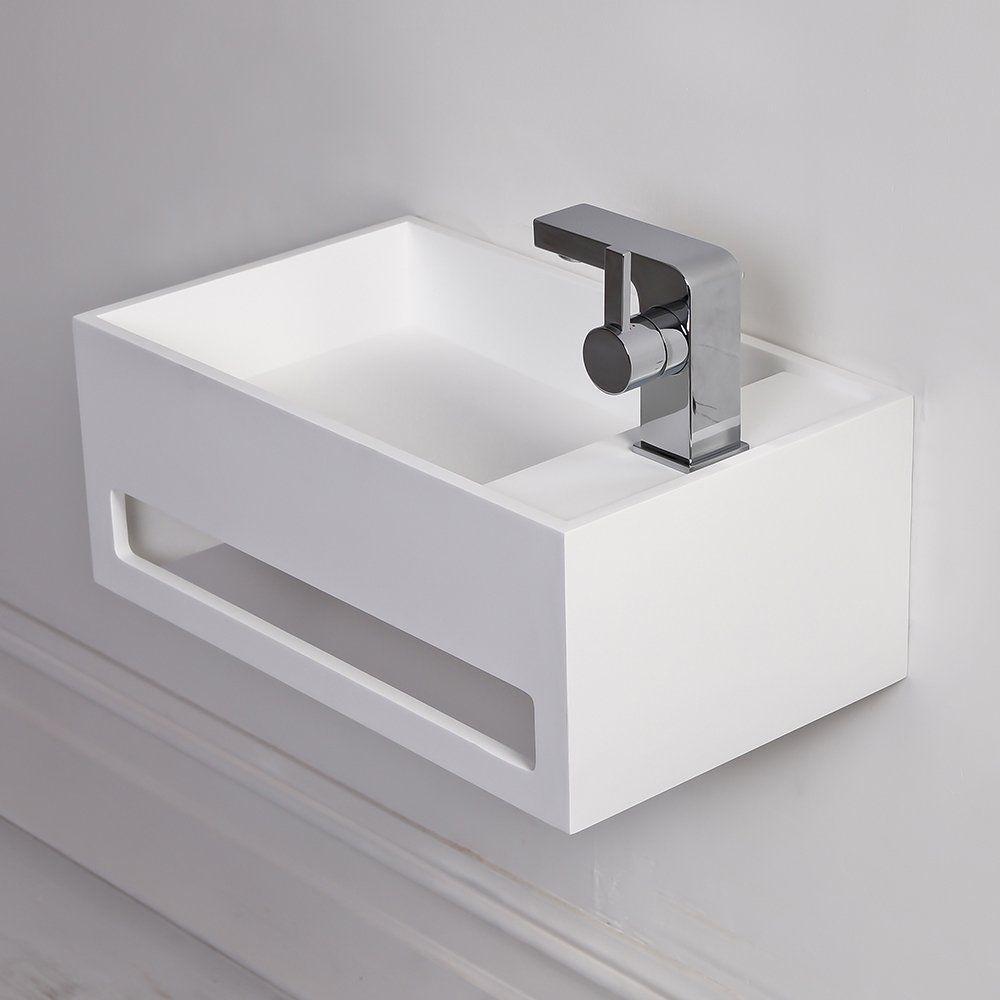 Waschbecken rechteckig  Wand-Waschbecken / rechteckig / aus Mineralguss / modern - ART ...