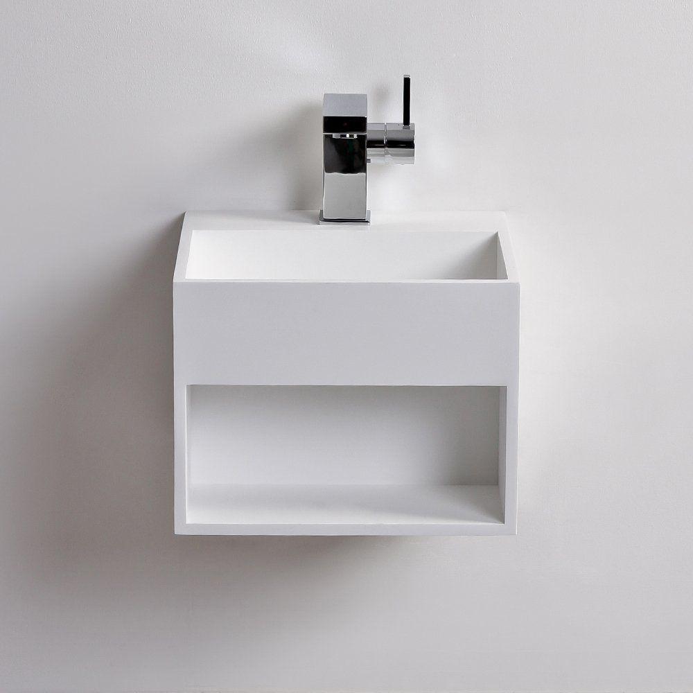 Wand Waschbecken Quadratisch Aus Mineralguss Modern Ethos