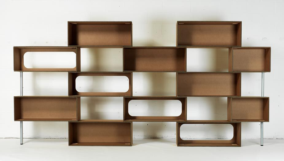 regal / originelles design / holz / karton - mattoni by giorgio, Möbel