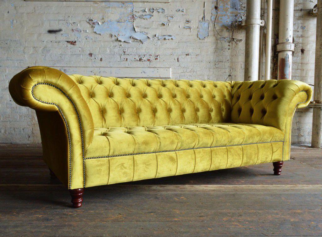 Chesterfield sofa samt  Chesterfield-Sofa / Samt / 2 Plätze / 3 Plätze - GENEVA - Abode Sofas