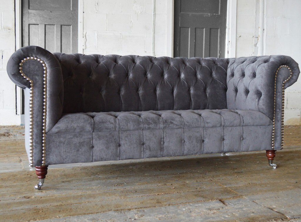Chesterfield sofa samt  Chesterfield-Sofa / Samt / 2 Plätze / 3 Plätze - EDWARDIAN - Abode ...