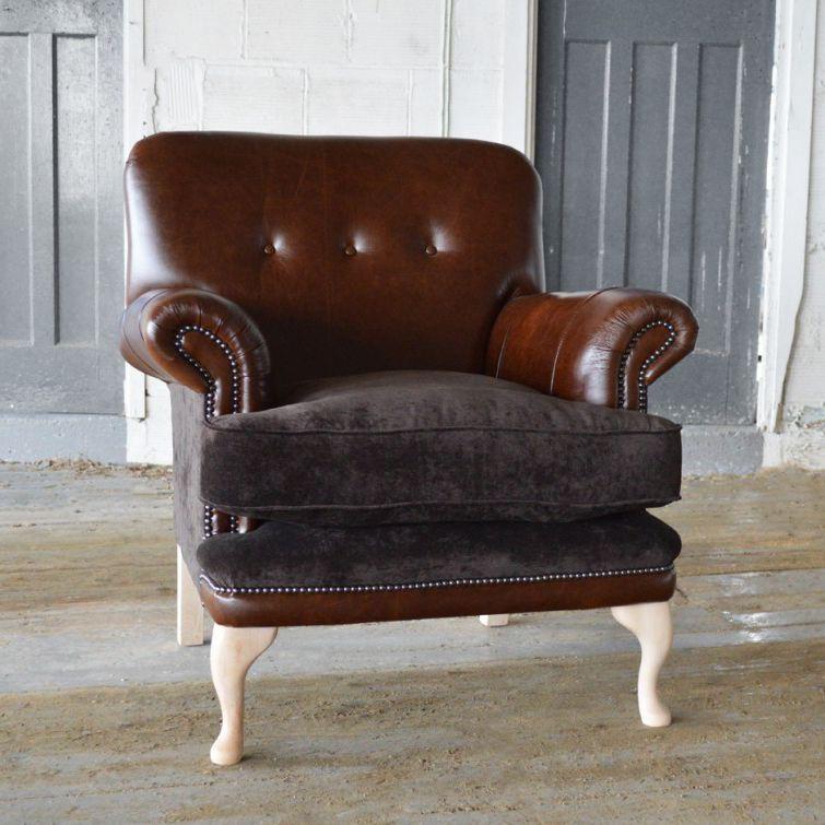 Chesterfield Sessel Samt Leder Braun Chatsworth Abode Sofas