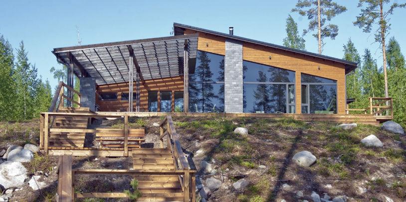 Fertigbauhaus Modern Aus Holz Glas Villa Morilla Polar