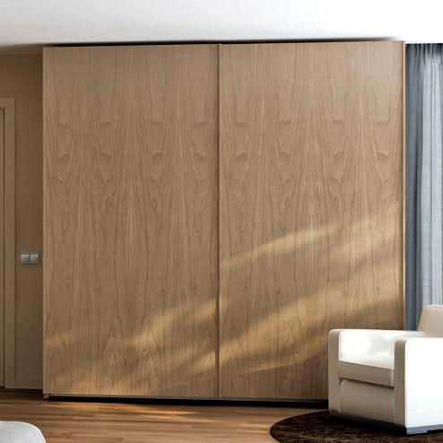 Moderner Kleiderschrank / Nussbaum / Schiebetüren - Besform