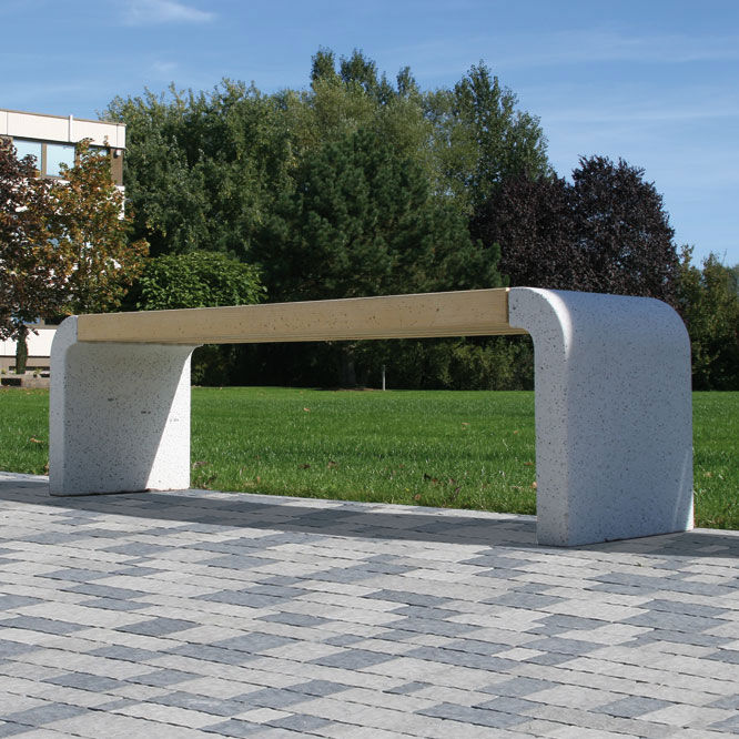 Gartenbank Modern Beton