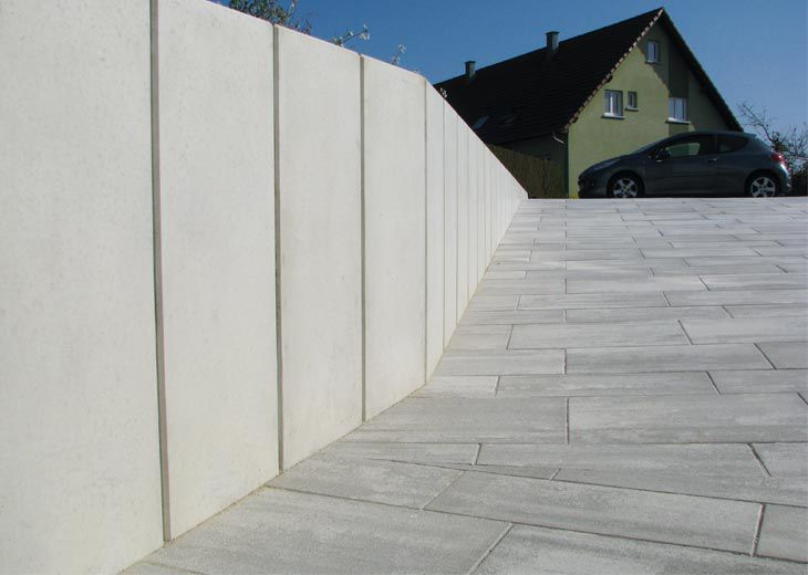 Gartenzaun / Platten / Beton - L - Heinrich & Boch