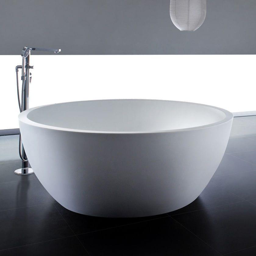 Freistehende Badewanne / rund / aus Mineralguss - PG11560 - PG Caststone