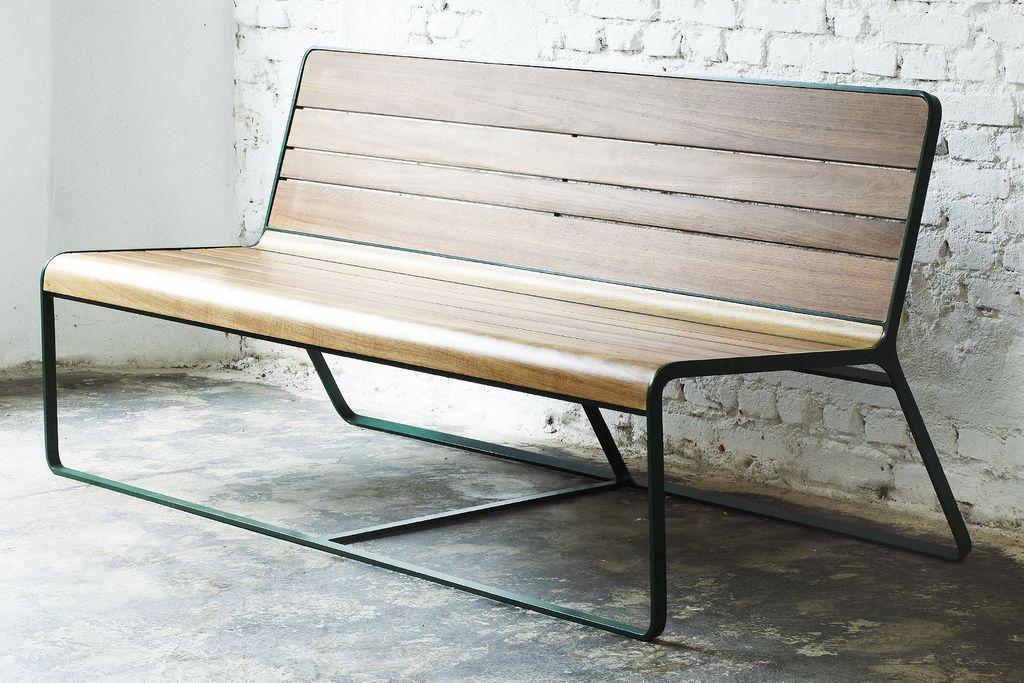 Gartenbank modern holz  Gartenbank / modern / Holz / Aluminium - HANA LOVE - Estudiobola