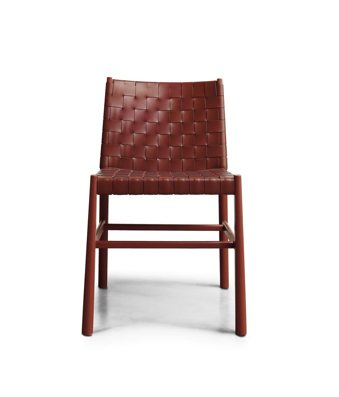 Moderner Stuhl Holz Leder Contract 0022 Cu Julie By Emilio