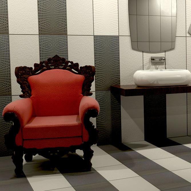 fliesen fr badezimmer wand aus porzellan mit geometrischem muster borsalino - Muster Fur Wand