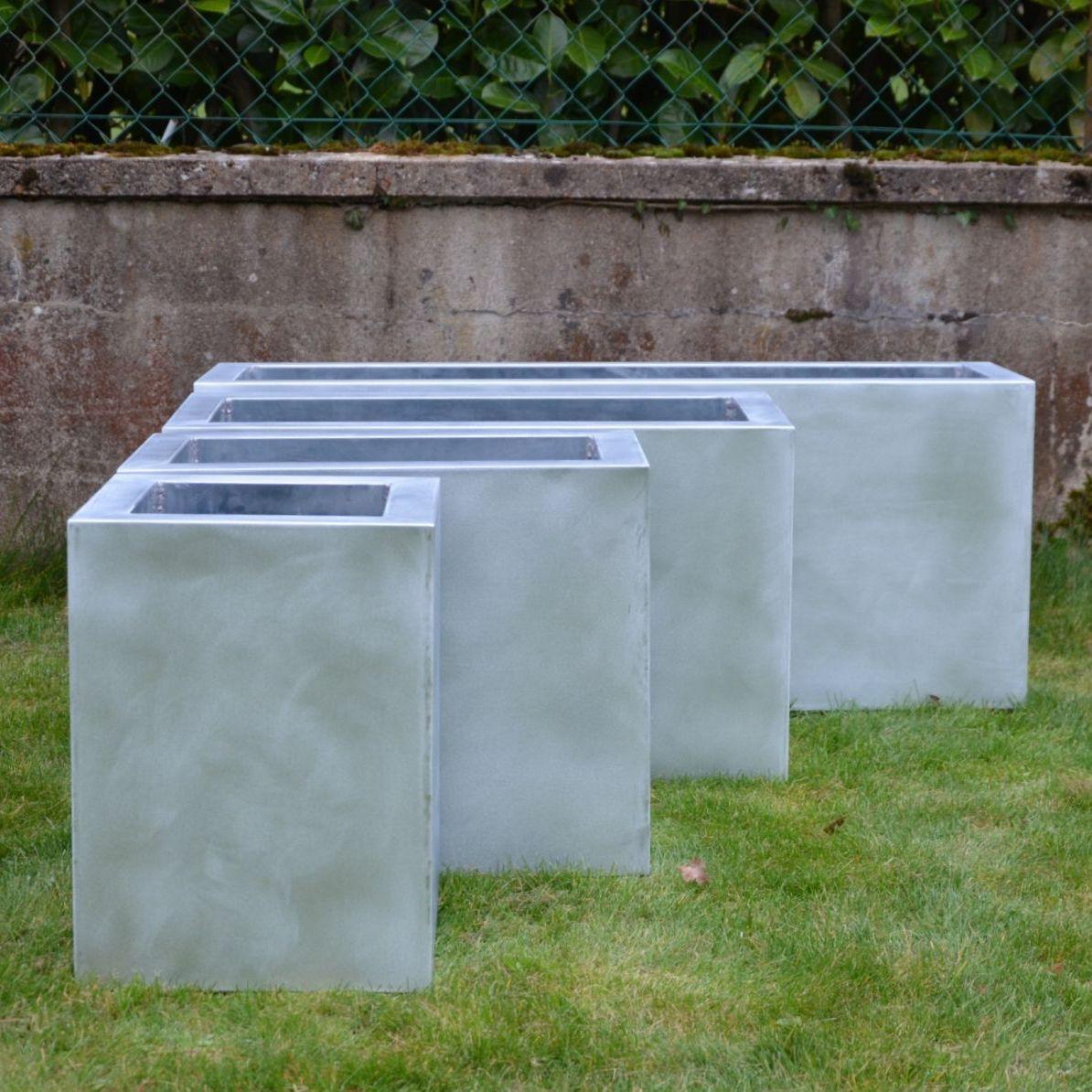 Zink-Pflanzkübel / quadratisch / rechteckig / modern - SP - MISTERZINC
