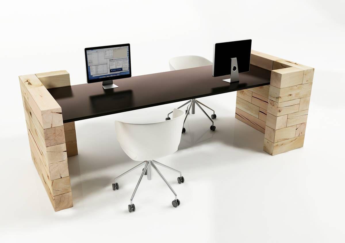Schreibtisch für Open Space / Holz / modern / Gewerbe - Craftwand