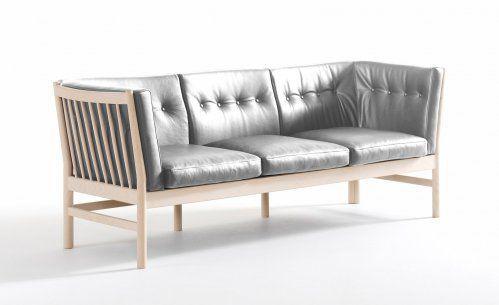 Modernes Sofa Leder Holz Stoff Kadett Kadett De Luxe By