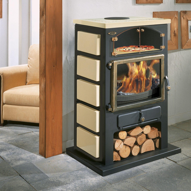 Holz Kaminofen / Multibrennstoff / Gas / Traditionell   CHAMONIX