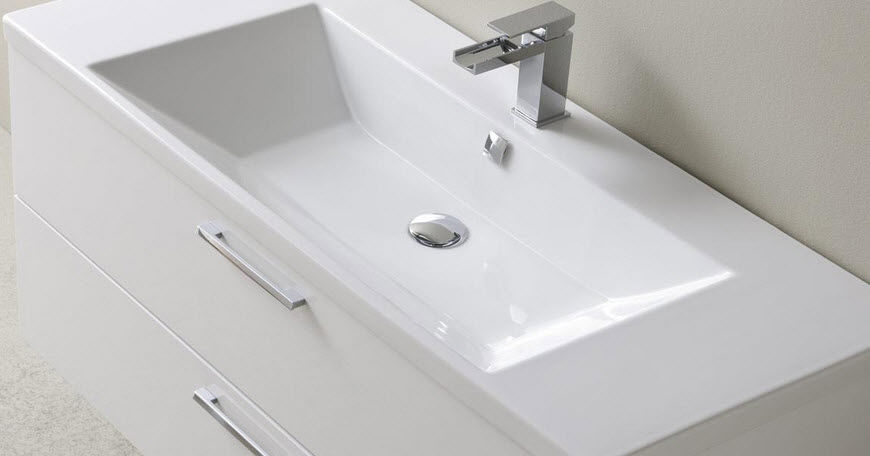 Hängend-Waschtischunterschrank / Holz / modern / lackiert - DEPTH ... | {Waschtischunterschrank holz hängend 120 11}