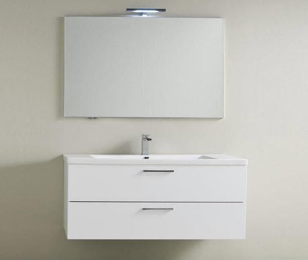 Hängend-Waschtischunterschrank / Holz / modern / lackiert - DEPTH ... | {Waschtischunterschrank holz hängend 120 19}