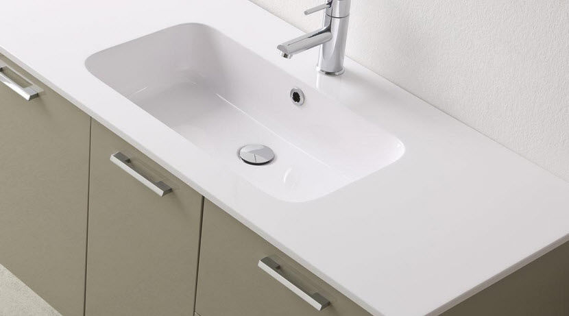 Hängend-Waschtischunterschrank / Glas / Holz / modern - DEPTH 50 ... | {Waschtischunterschrank holz hängend 120 21}
