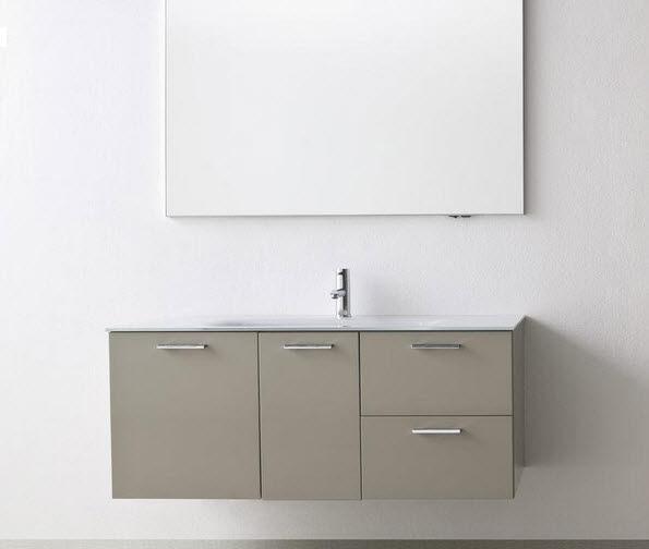 Waschtischunterschrank holz hängend 120  Hängend-Waschtischunterschrank / Glas / Holz / modern - DEPTH 50 ...
