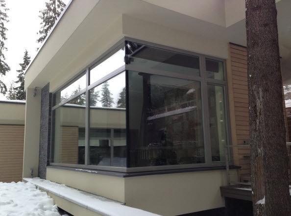 Feststehendes Fenster Aluminium 3 Fach Verglasung Alu Facade