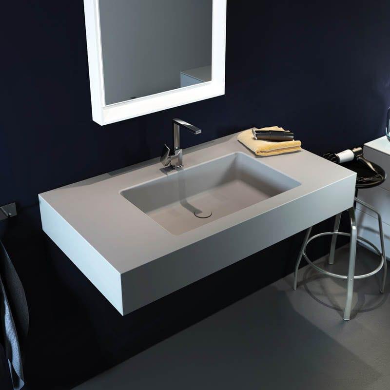 Wand Waschbecken Rechteckig Keramik Modern Big Solid L By