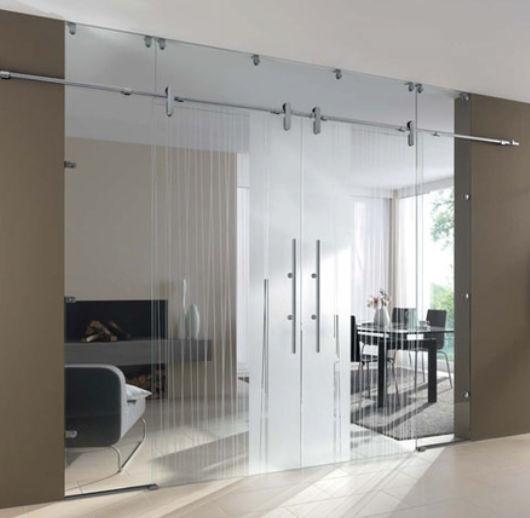 Doppelflügeltür Innen Doppelflügeltür / Für Innenbereich / Zum Schieben /  Glas .