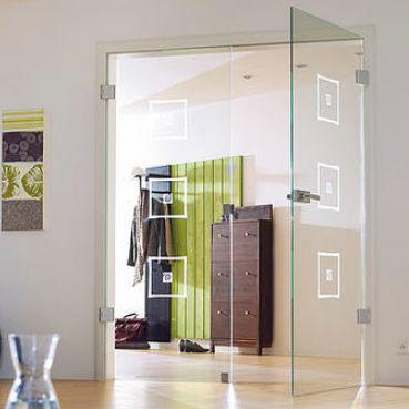 Doppelflügeltür innen  Doppelflügeltür / für Innenbereich / einflügelig / Glas - ROMA 2 ...