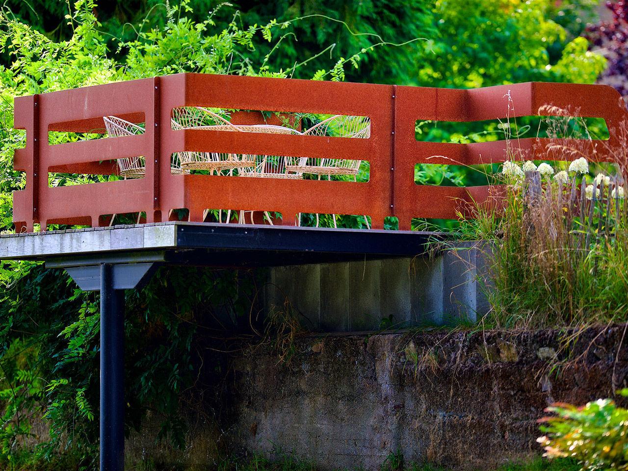 cortenstahl garten terrasse produkte, stahlgeländer / mit stangen / außenbereich / für terrassen - lmt, Design ideen