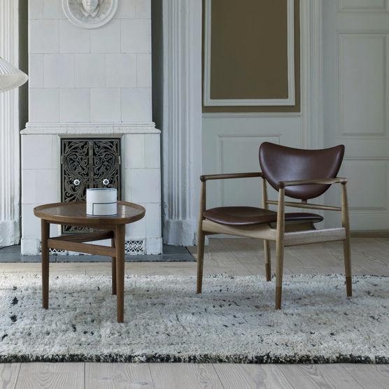 Sessel / Skandinavisches Design / Stoff / Leder / Aus Eiche   48