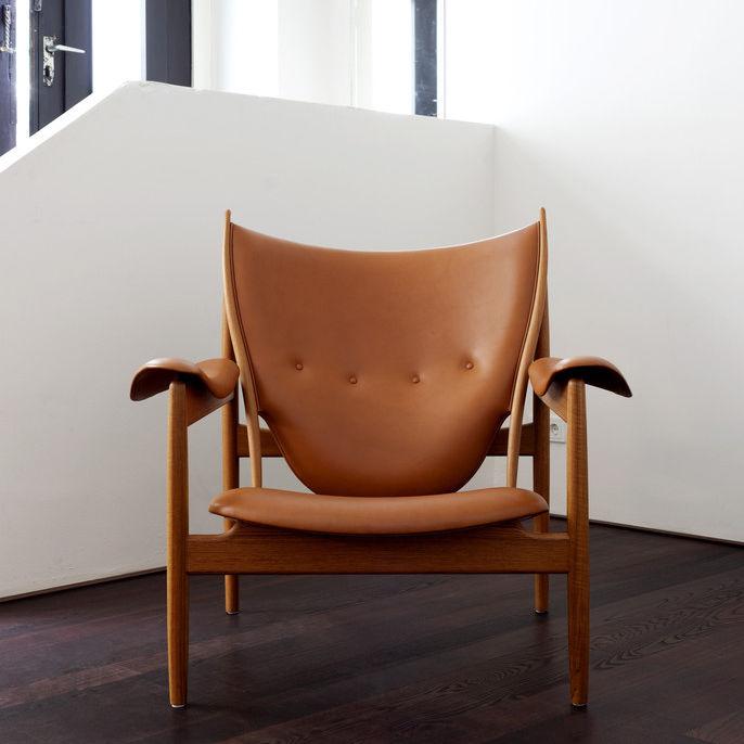 Fabelhaft Sessel / Skandinavisches Design / Leder / aus Teakholz / Nussbaum #EQ_91
