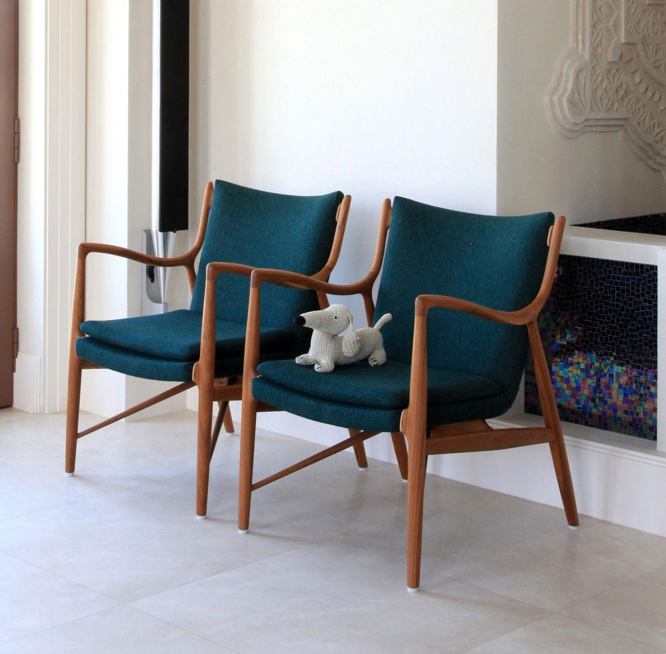 Sessel / Skandinavisches Design / Stoff / Leder / Aus Eiche   45